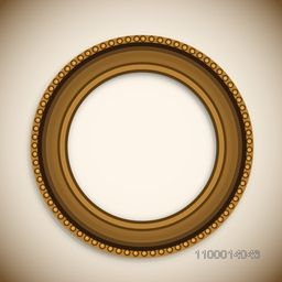 Beautiful decorated circle photo frame.