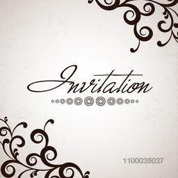 Beautiful floral decorated Invitation card for wedding and other ceremony.