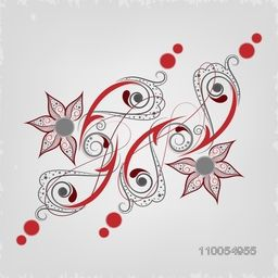 Beautiful creative floral design on grey background.