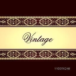 Vintage background, greeting card or invitation card design with creative beautiful border.