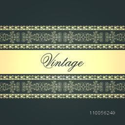 Creative beautiful border design for vintage greeting card or invitation card.