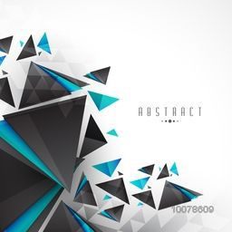 Creative stylish abstract design decorated white background.