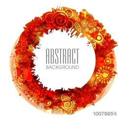 Beautiful abstract background with colorful glossy floral design.