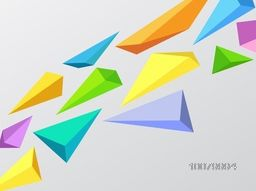 Creative colorful Abstract design decorated glossy grey background.