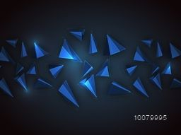 Creative origami abstract design decorated glossy background.