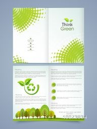 Creative Save Nature Brochure, Flyer, Banner or Template design.