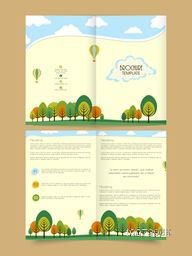 Professional Brochure, Flyer, Banner or Template with creative tree for Ecology concept.