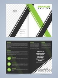 Professional Two Page, Business Flyer, Banner, Template or corporate Brochure with front and back presentation.