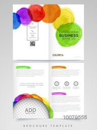 Creative Professional Brochure, Template or Flyer design with space to add your images for Business concept.