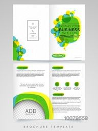 Two Page Professional Brochure, Template or Flyer presentation with space to add your image for Business purpose.