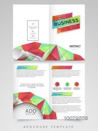 Abstract design decorated, Two Page Brochure, Template or Flyer with space to add your image for Business concept.
