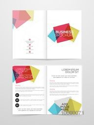 Two page creative Business Brochure, Template, Flyer or Banner with space for your image.
