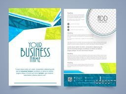 Creative Two Page, Business Brochure, Template or Flyer design with space for your image.