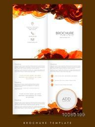 Two Page abstract Business Brochure, Template or Flyer design with space for your image.