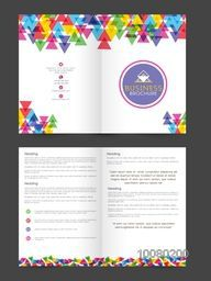 Creative Business Brochure, Template or Flyer design with front and back page view.