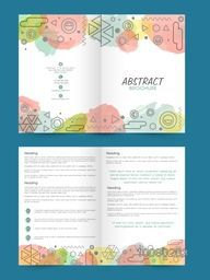 Two Page professional Brochure, Template or Flyer design with front and back page presentation.