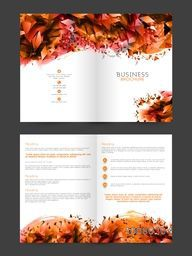 Glossy abstract design decorated, Two Page Brochure, Template or Flyer presentation for your Business.