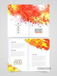 Creative professional two page Brochure, Template or Flyer presentation decorated with abstract design for your Business.