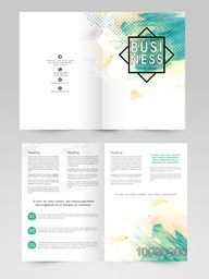 Professional Business Brochure, Template or Flyer design with front and back page presentation.
