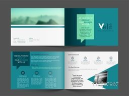 Professional Business Brochure Set with Front, Inner or Back Pages Presentation.