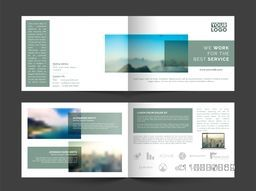 Creative Four Pages Business Brochure Set with space for your images.