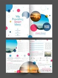 Four Pages Professional Brochure Set for Business concept.