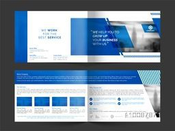 Modern Professional Brochure Set with Front, Inner or Back Pages Presentation for Business concept.