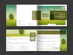 Modern Professional Brochure Set for Business concept.