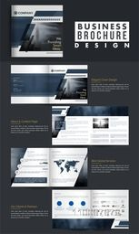 Eight Pages Professional Business Brochure Set with high detailed presentation.