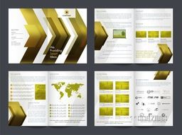 Professional Eight Pages Brochure Set for Business reports and presentations.