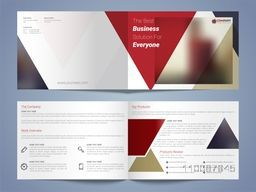 Modern Professional Business Brochure Set of Four Pages.