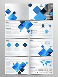 Eight Pages Professional Business Brochure Set.