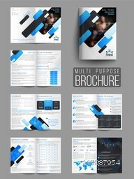 Professional Gym or Fitness Brochure Set with Front, Inner or Back Pages Presentation.