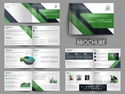 Professional Twelve Pages Multi-Purpose Brochure Set with Infographic Elements.