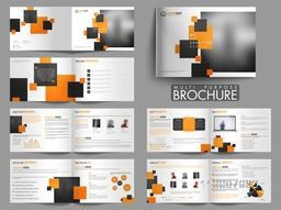 Twelve Pages Modern Multi-Purpose Brochure Set with Cover, Inner or Back Pages Presentations.