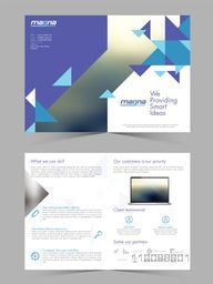 Professional Business Brochure Set with abstract design and Front, Inner or Back Pages Presentation.