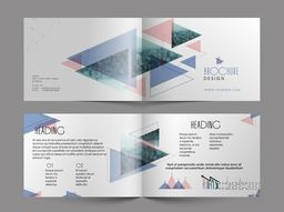 Abstract Brochure layout with infographic elements for Business concept.