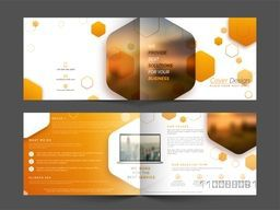 Creative Brochure Cover design with front, back and inner pages presentation for your Business.