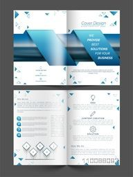 Creative Business Brochure layout with front, inner and back pages presentation.