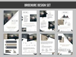 Professional Brochure Cover design set with infographic elements and space to add images.