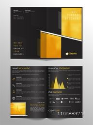 Four Pages Professional Multi-Purpose Business Brochure Set with Infographic Element.