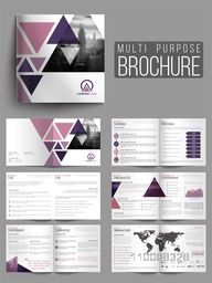 Professional Multi-Purpose Business Brochure Set with Cover, Inner or Back Pages Presentation.