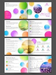 Eight Pages Modern Abstract Business Brochure Set.