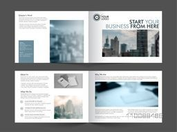 Professional Modern Four Pages Business Brochure Set with space to add images.
