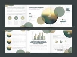 Modern Three Fold Business Brochure Set with Infographic Elements and space to add images.