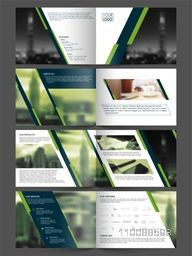 Professional Creative Business Brochure Set with Front, Inner or Back Pages Presentation.