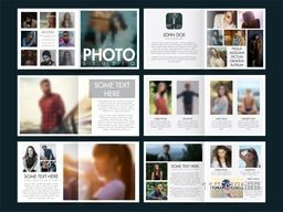 Professional Creative Brochure Set with Front, Inner or Back Pages Presentation and photo illustration for Studio.