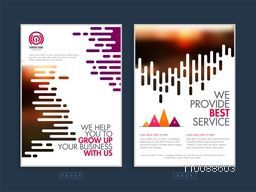 Two Page Business Template or Flyer layout with abstract design.