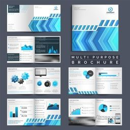 Multi Purpose Corporate Brochure set with infographic elements and modern abstract design.