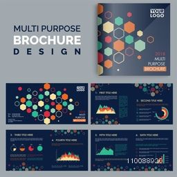 Multi Purpose Business Brochure design with front, inner and back pages presentation.